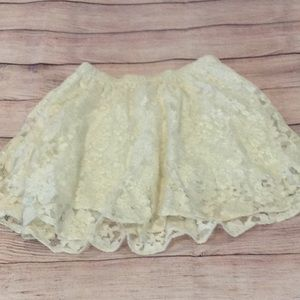 Abercrombie and Fitch XS cream lace circle skirt.